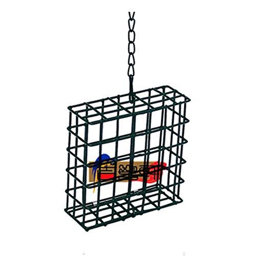 JXXDDQ Mangeoire À Oiseaux Cage Cube Conteneur Alimentaire en Plein Air Oiseaux Sauvages Alimentation Arbre Suspendu Distributeur de Nourriture pour Oiseaux Portable
