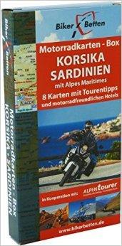 Korsika-box (Motorradkarten Box Korsika Sardinien: mit Alpes Maritimes ( Folded Map, Januar 2015 ))