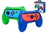Subsonic Impugnature Controllers, 2 Maniglie Comfort Grip per Joy Cons, Blu/Verde - Nintendo Switch