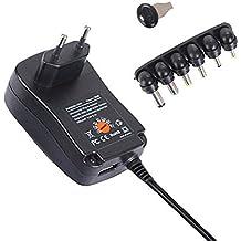 Libeauty Adaptador de alimentación de Voltaje Ajustable multifunción 3V-12V US ...
