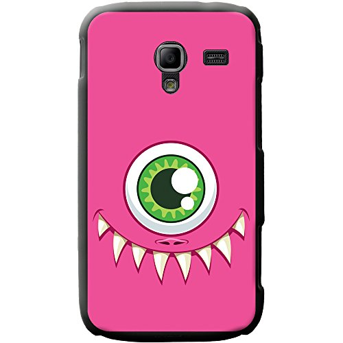 Monster Faces cover/custodia rigida per cellulari Samsung, PLASTICA, One Eyed Pink Monster Face, Samsung Galaxy Ace 2 (i8160)