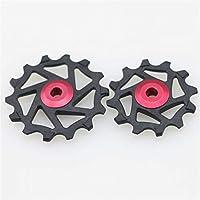 NOBRAND Cambio Trasero Polea Jockey Guía de Ciclo de la Rueda 1 par MTB Rodillo Tensor Ciclismo Herramienta for XX1 X01 XTR Piezas de Bicicletas (Color : Red)