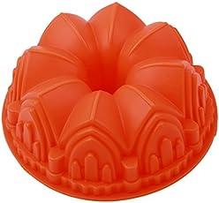 ODN Gugelhupf-Form Silikon Ø 21cm Guglhupf Backform Kuchenform antihaftbeschichtet Orange