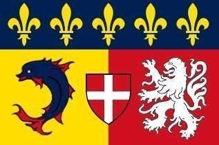 Rhone Alpes (FR) Flagge Fahne 90 * 150 cm