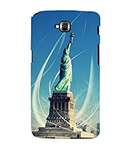 Fuson Designer Back Case Cover for LG G Pro Lite :: LG Pro Lite D680 D682TR :: LG G Pro Lite Dual :: LG Pro Lite Dual D686 (Statue Statue Of Liberty Liberty Enlightening world Iconic Statue Statue With Lights)