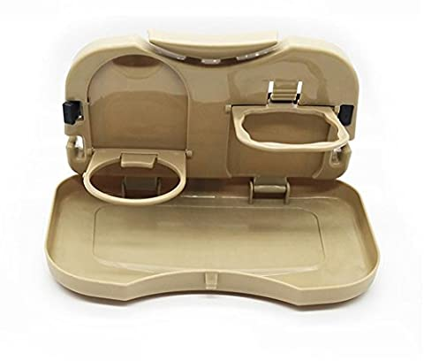 Automotive Rear Seat Foldable Water Cup Holder Car Plate Multi-functional Beverage Cup Holder Car Interior Tray Tray , beige