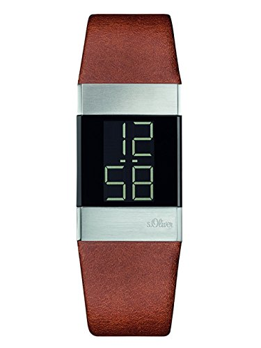 S.Oliver Women's Digital Quartz Watch with Leather Strap – SO-3183-LD