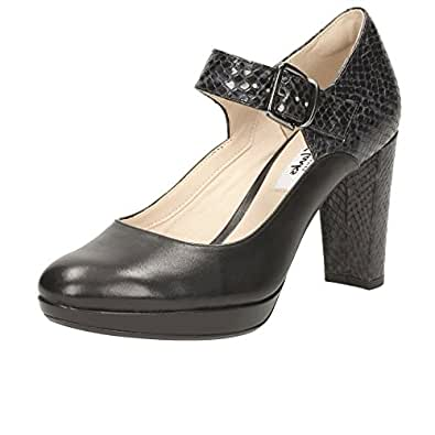Clarks Kendra Gaby Womens Wide Mary Jane Shoes 3 Black