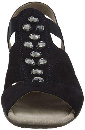 Gabor Damen Fashion Offene Sandalen mit Keilabsatz Blau (pazifik 16)