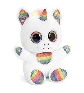Animotsu Rainbow Sparkle Unicornio de Peluche, acompañante Suave con Grandes Ojos Brillantes, Aprox. 15 cm.
