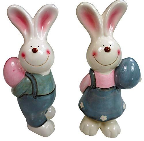 Khevga - coniglietto pasquale decorativo, set da 2, 19 cm