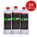 BIOHY Sanitärreiniger (3 x 1 litre) Nettoyant puissant pour salle de bain, nettoyant...