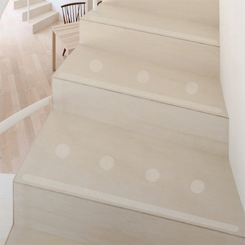 Kara. Grip 15 Non-Slip Adhesive Approx. 80 cm x 3 cm, transparent, also for Child and dogs. Instead of Mats or stair Carpet to prevent slipping, Strumpffreundlich Self-Adhesive Nearly Invisible Slip Protection and Slip Guard