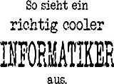 Mister Merchandise Witziges Herren Männer T-Shirt Informatik So sieht ein richtig Cooler Informatiker aus. , Größe: L, Farbe: Rot - 2