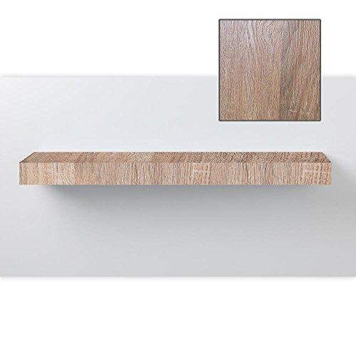 Wandboard, Wandregal, Steckboard, in verschiedenen Farben und Längen, Farbe:Sonoma, Länge:180cm