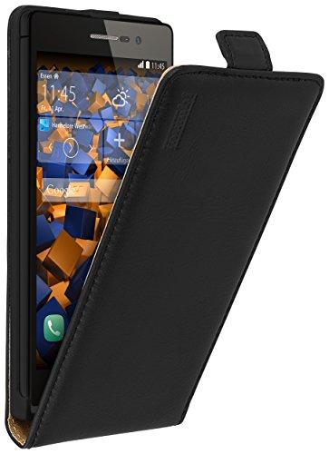 mumbi PREMIUM Leder Flip Case für Huawei Ascend P7 Tasche