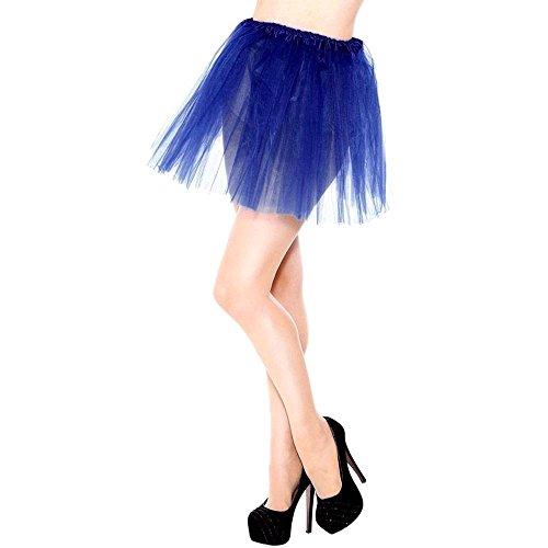WUSIKY Rock Damen/Teen Mädchen Kleid Pretty Girl T-Shirt elastisch dehnbar Tutu 3-Schicht Rock Elegant Lässig Tutu Röcke Tanzkleid Unterkleid (One Size,Dunkelblau) (Pretty Girl Rock Kostüm)