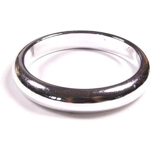 Thin brazalete de plata resina