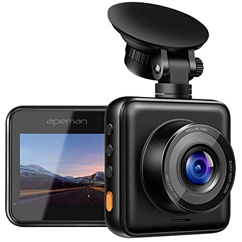APEMAN Dash Cam 1080P Full HD Mini Car Driving Recorder 170Ã'° Wide Angle, Motion Detection, G-Sensor, Loop Recording, Night Vision