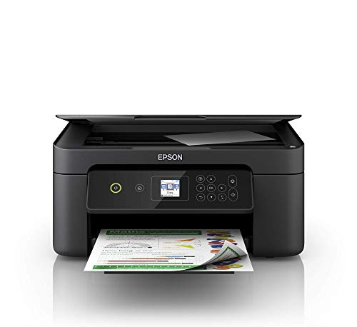 Epson Expression Home XP-3100 3-in-1-Tintenstrahl-Multifunktionsgerät, Drucker (Scanner, Kopierer, WiFi, Einzelpatronen, Duplex, 3,7 cm Display) Amazon Dash Replenishment-fähig, schwarz