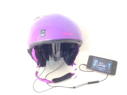 KOKKIA iSportHelmet : UNIVERSAL Sport / Motorrad-Helm Stereo-Kopfhörer + Mikrofon. Universal Fernbedienung- und Lautstärkeregelung für Apple iPhones / iPads / iPods sowie Samsung, Nokia und die meisten Smartphones / Geräte. -