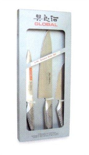 Global G-2111 - Juego de cuchillos de cocina (3 unidades)