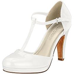 Marco Tozzi 24416, Zapatos de tacón para mujer, Blanco (White Patent)
