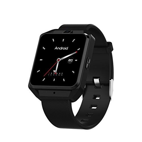 XHL Art 4G GPS Android 6.0 Smart Watch M5 MTK6737 Pulsmesser Unterstützung SIM-Karte Kamera Business Smartwatch Für Männer Frauen,Black
