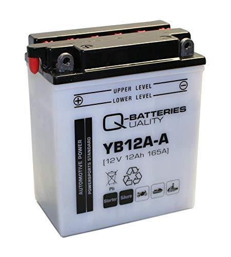 Q-Batteries Motorrad-Batterie YB12A-A 51211 12V 12Ah 165A