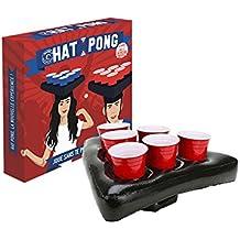 Original Cup – Hat Juego de Beer Pong con Sombreros hinchables y ...