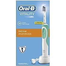 Oral-B Vitality Elektrische Zahnbürste, mit Timer und TriZone Aufsteckbürste, Sichtverpackung, weiß/türkis