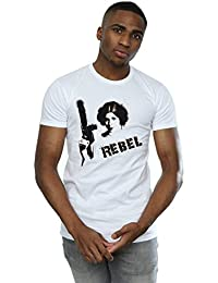 Star Wars Homme Princess Leia Rebel T-Shirt Small blanc