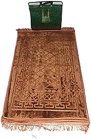 سجادة الصلاة الإسلامية سجادة الصلاة الإسلامية يا نماز، لحاف رغوة ذاكرة غير قابلة للحركة أحمر مخملي، لرمضان كري