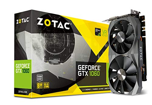 ZOTAC GeForce GTX 1060 6GB GDDR5X Grafikkarte (NVIDIA GeForce GTX 1060, 6GB GDDR5X, 192bit, Base-Takt 1506 MHz, Boost-Takt 1708 MHz, 8 GHz) -