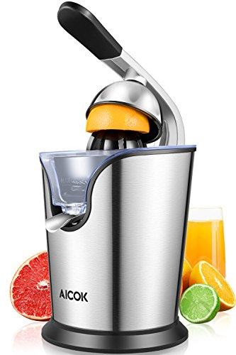 AICOK Exprimidor Eléctrico para Cítricos Frutas, 160W Exprimidor de Naranjas Electrico con...