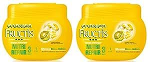 Garnier - Fructis Nutri Repair 3 - Masque Cheveux abîmés Lot de 2