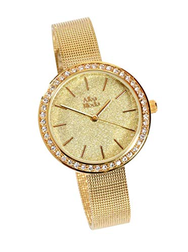 Damen-Armbanduhr, goldfarben
