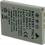 Otech D139SN Batterie pour Appareil Photo Numérique de type Nikon EL-EL8 3,7 V Li-Ion 600 mAh