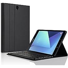 Samsung Galaxy Tab S3 9.7 teclado Funda carcasa ase, KuGi caso de [teclado QWERTY] Samsung Galaxy Tab S3 9.7 SM-T820 / T825 con el teclado, caso desmontable ultraplano del soporte del teclado de Bluetooth / cubierta para la tableta de Samsung Galaxy Tab S3 9.7.