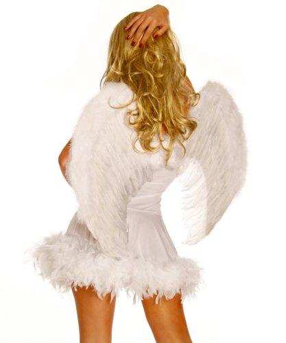 Yourdesignerz weiße Flügel Damen weiß one size Verkleidung (Engel Teuflische Kostüm)