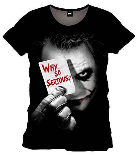 Batman Joker Why So Serious, Camiseta para Hombre, Negro, L