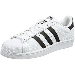 adidas Superstar, Zapatillas Hombre, Blanco (Ftwbla / Negbas / Negbas), 45 1/3 EU