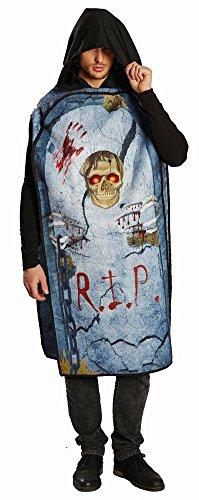 Mottoland Herren Kostüm Grabstein RIP Friedhof Halloween Party (Rip Grabstein Kostüm)