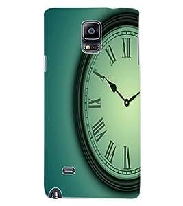 ColourCraft Clock Design Back Case Cover for SAMSUNG GALAXY NOTE 4