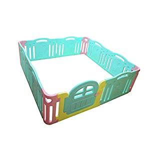 DS- Baby fence Safety Fence,Game Fence Children's Activity Center Foldable Indoor and Outdoor Playground Fence && (Size : 215 * 215 * 64.5cm)   4