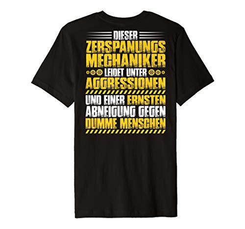 Zerspanungsmechaniker T-Shirt Aggressionen Dreher Fräser -