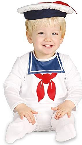 Fancy Me Baby Jungen weiß Segeln Doughboy Halloween Kostüm Outfit Verkleidung 6-12 12-24 Monate - Weiß, Weiß, 12-24 Months
