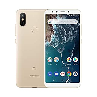 "Xiaomi Mi A2 - Smartphone Android One (Pantalla FHD de 5,99"", Qualcomm Snapdragon 660 a 2,2 GHz, RAM de 6 GB, ROM de 128 GB y cámara dual de 12 + 20 MP) Color oro [Versión española] (B07QF4Q5NS) 