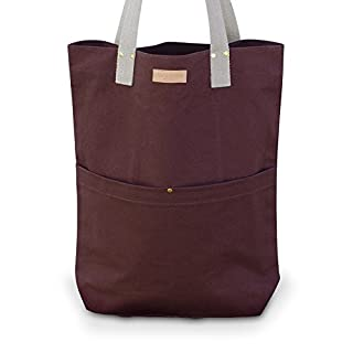 Aspegren Tasche Shopper Mano Bag Dark Wine Canvas 100% Baumwolle