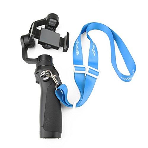 Wokee Einstellbarer Fernbedienung Schultergurt und Schnalle,Einstellbare Umhängeband Lanyard Sling Hang Gürtel für DJI OSMO Mobile 2/OSMO/OSMO +,Remote Controller Fernbedienungs-Halsschlaufe -